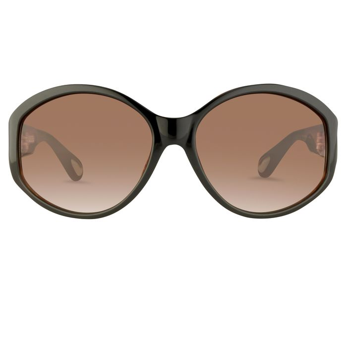 """Ann Demeulemeester - Oversized Black Tortoise Shell 925 Silver with Brown Graduated Lenses AD6C6SUN """"NO RESERVE PRICE"""" Sunglasses"""