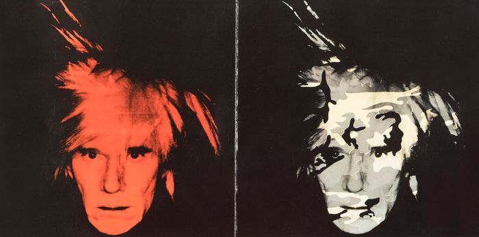 Andy Warhol - Self Portrait invitation card