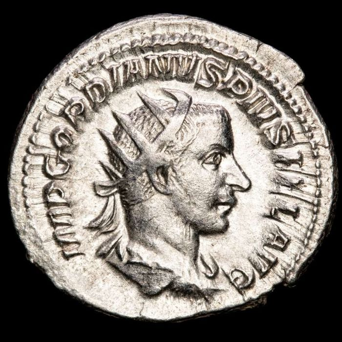 Römisches Reich - AR Antoninianus - Gordian III (AD 238-244) Rome - SECVRIT PERP Securitas holding sceptre, leaning on column - Silber