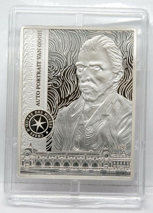 France. 10 Euro 2020 Proof. Van Gogh - Auto Portrait 2020 complete pack