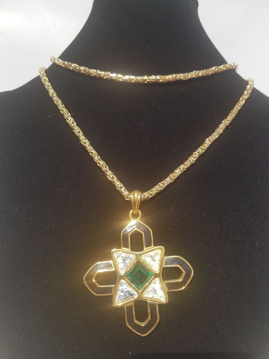 Christian Dior gold plated massive necklace Germany