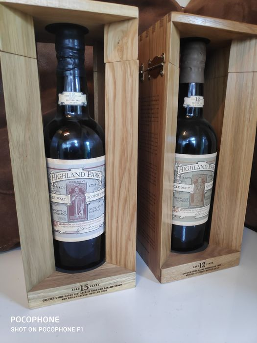Highland Park Earl Magnus 15 years Edition one & 12 years Edition two - Original bottling - 700ml - 2 bottles