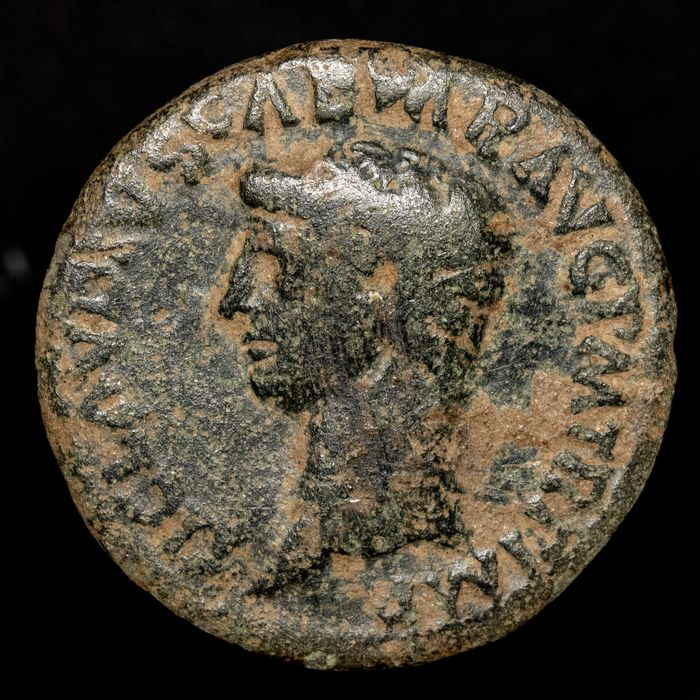 Roman Empire - AE Dupondius, Claudius I (41 - 54 AD) Rome - Ceres holding grain-ears and torch - Bronse