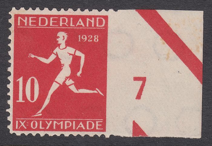 Niederlande 1928 - Olympiad, variety imperforate on the right - NVPH 217v