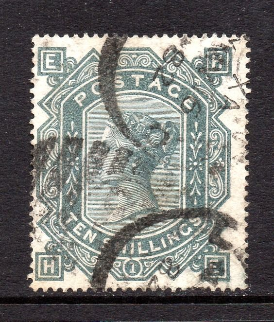 Großbritannien - 1878 10/- Greenish Grey Plate 1 Wmk Maltese Cross - Stanley Gibbons SG128