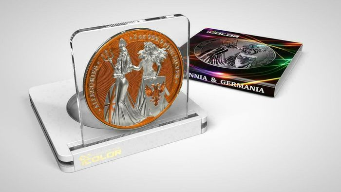 Deutschland - 5 Mark 2019 - Germania -  The Allegories i-Color Edition - Orange - 1 Oz - Silber