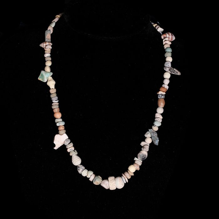 Sumerian Shell and Hardstone Bead Necklace