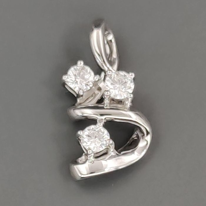 18 kt. White gold - Pendant - 0.45 ct Diamond