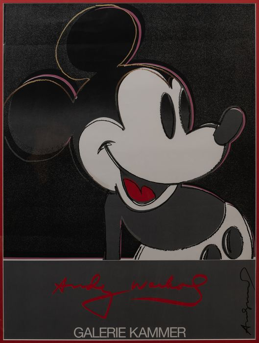 Andy Warhol - Exhibition Poster Galerie Kammer (Micky Mouse)
