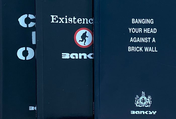 Banksy - Cut It Out, Existencilism & Banging Your Head Against A Brick Wall - 2001/2005