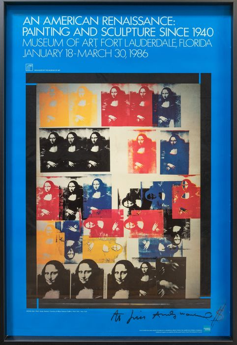 Andy Warhol - An American Renaissance - Exhibition Poster: Painting and Sculpture since 1940, Lauderdale Florida