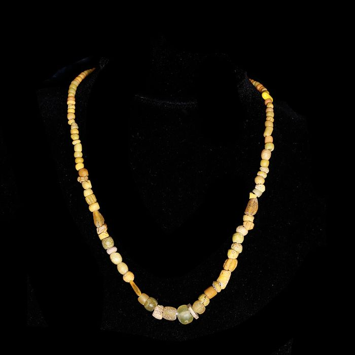 Achaemenid Glass Restrung Necklace with Yellow Beads