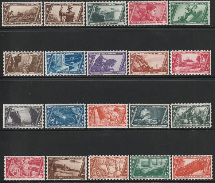 Königreich Italien 1932 - March on Rome, complete set with airmail and express stamps - Sassone S.66