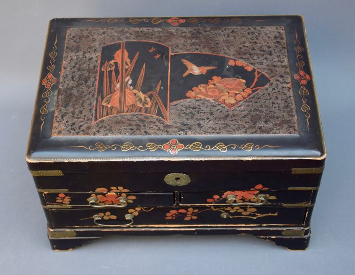 Portable lacquer cabinet from Japan