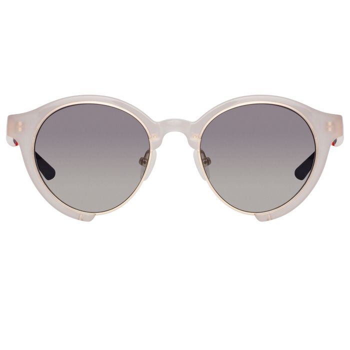 """Orlebar Brown - Oval Smokey with Pewter Graduated Lenses OB47C4SUN """"NO RESERVE PRICE"""" Sunglasses"""