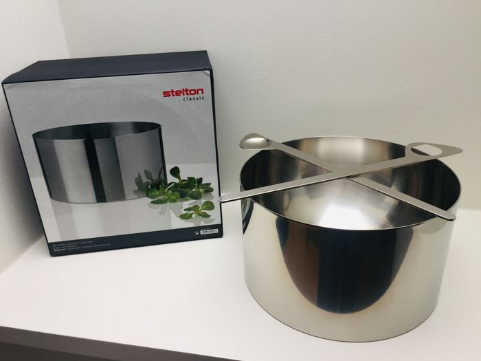 Arne Jacobsen - Stelton - Salad bowl + servers, mint condition in original box - Cylinda Line