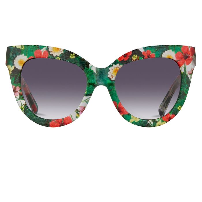 "Erdem - Cat Eye Floral with Grey Graduated Lenses - EDM21C4SUN""NO RESERVE PRICE"" Sunglasses"