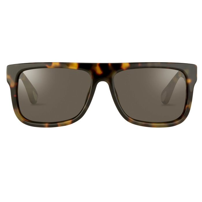 Ann Demeulemeester - Flat Top Tortoise Shell 925 Silver with Grey Lenses CAT3 AD2C2SUN Sunglasses