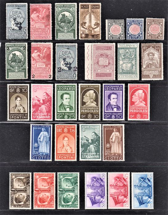 Italien 1911/1941 - Kingdom selection of 6 complete sets of the period