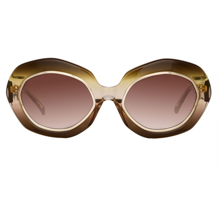 "Erdem - Oversized Brown Gold with Brown Graduated Lenses EDM33C2SUN""NO RESERVE PRICE"" Sunglasses"