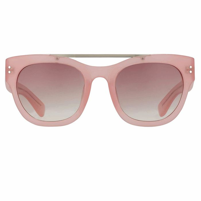"Erdem - D-Frame Pale Pink with Rose Graduated Lenses EDM11C5SUN""NO RESERVE PRICE"" Sunglasses"