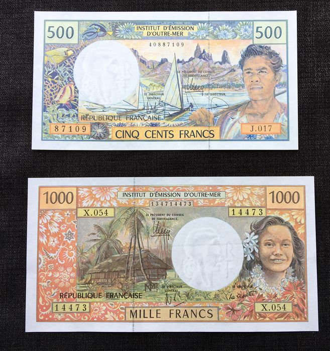 French Pacific Territories - 500 and 1000 Francs 2011 - Pick 1 and 2
