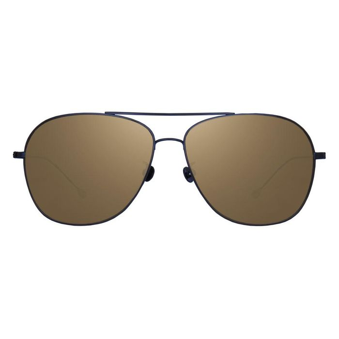 Ann Demeulemeester - Titanium Aviator Black with Grey Lenses CAT3 AD14C4SUN Sunglasses