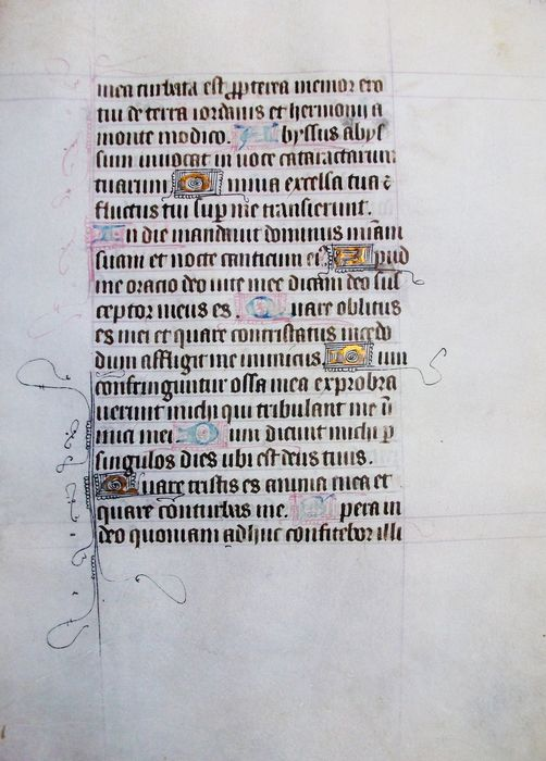 (French Atelier) - Manuscript; One sheet from a book of hours on vellum - XV century - 1470