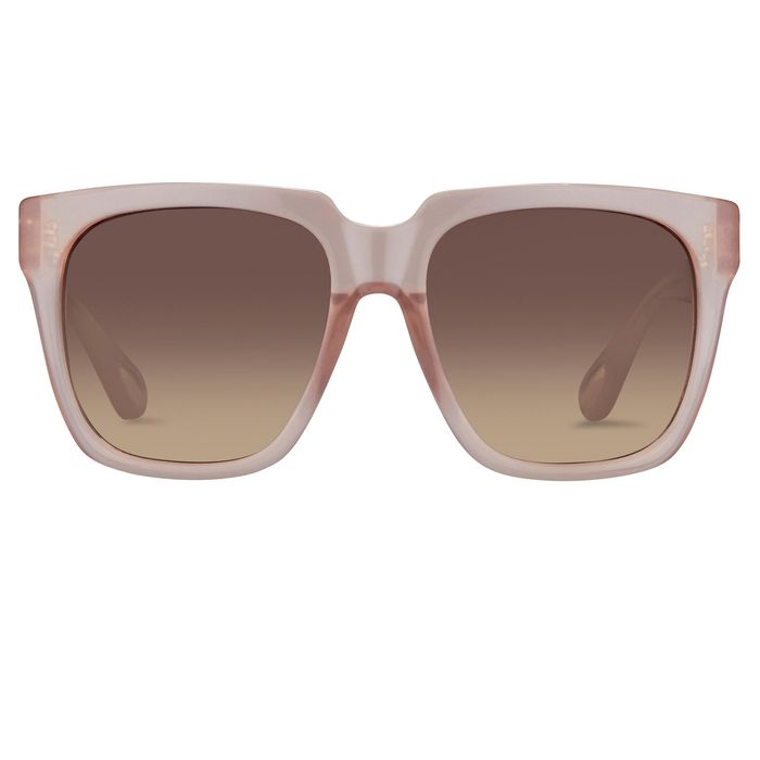 Ann Demeulemeester - Oversized Blush Pink with Brown Lenses 925 Silver AD21C5SUN Sunglasses