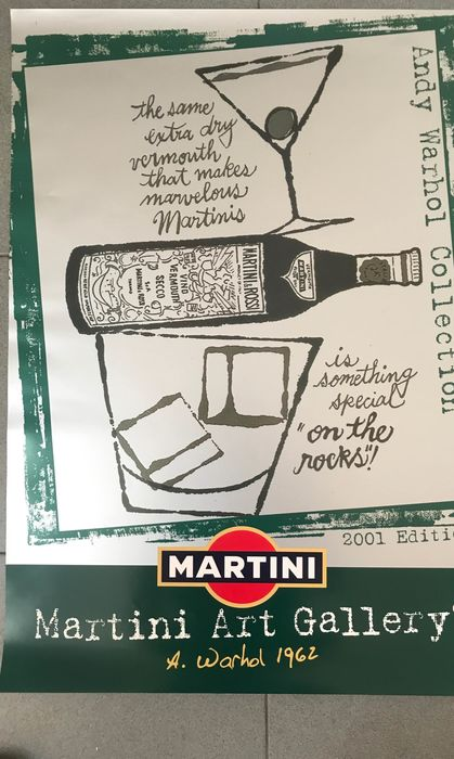 Andy Warhol - (after) Martini Art Gallery Green - Anni 2000