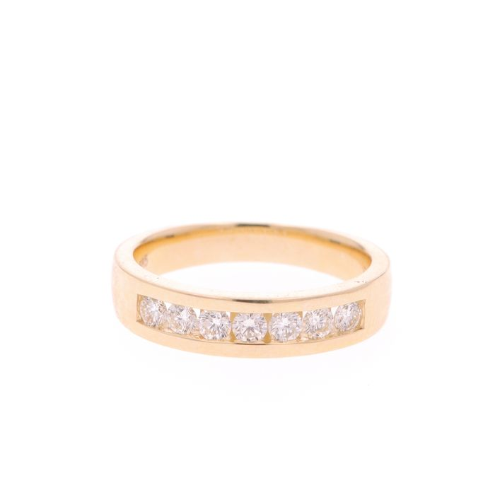 14 kt. Yellow gold - Ring - 0.54 ct Diamond