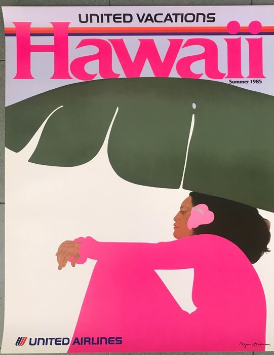 Pegge Hopper - Hawaii - United Airlines - 1985