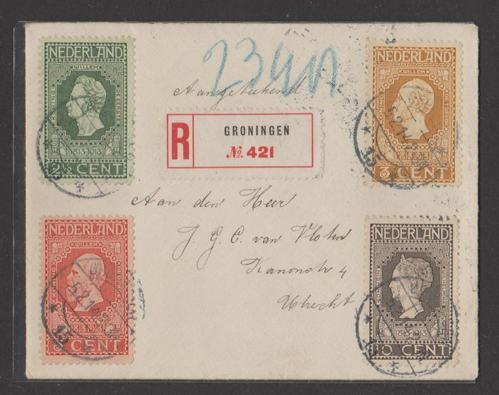 Netherlands 1891/1931 - Selection of 7 letters