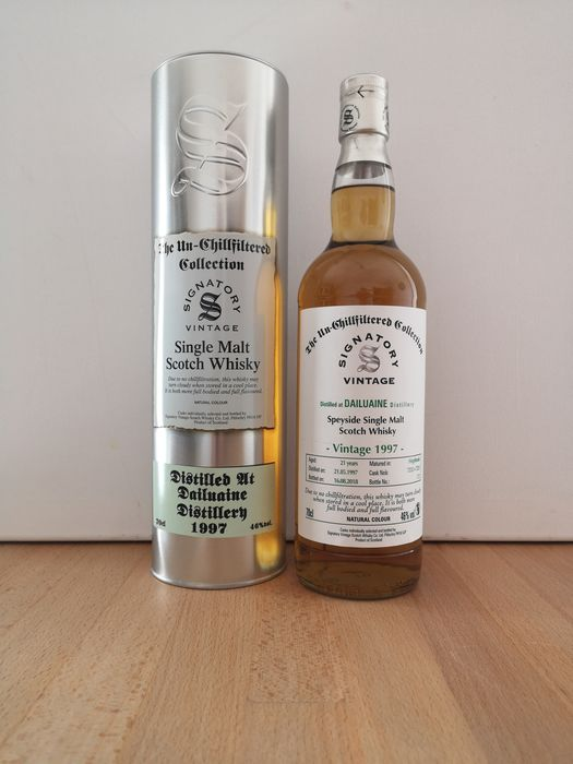 Dailuaine 1997 21 years old The Un-Chillfiltered Cask 7232 + 7233 - Signatory Vintage - b. 2018 - 70cl