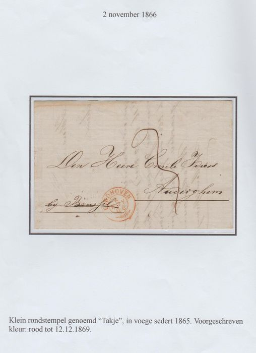 Netherlands 1861/1868 - Letters, six pieces pre-philately