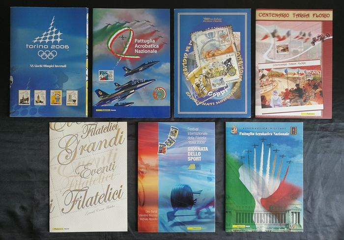 Italien 1999/2010 - collection of 7 folders of sports stamps