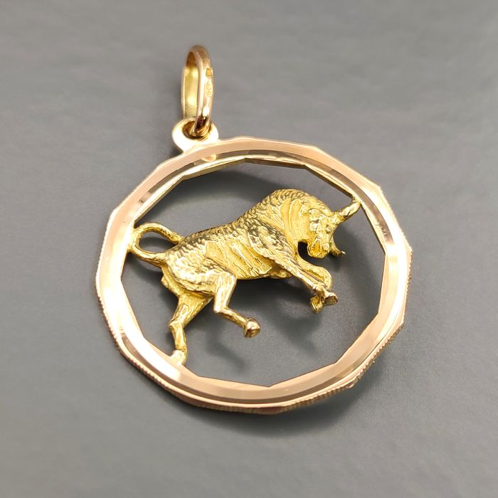 18 kt. Pink gold, Yellow gold - Pendant