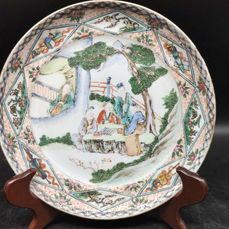 Dish - Famille verte - Porcelain - character - China - 19th century