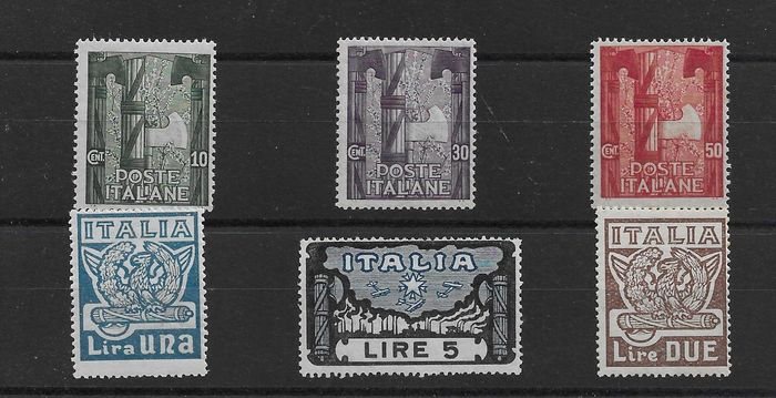 Italien 1923 - Interesting lot of the Kingdom of Italy MNH** - Sassone 141/146