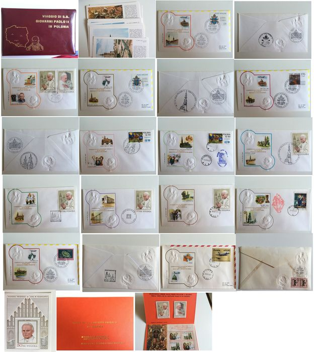 Welt 1969/1983 - Vatican/Pope's travels 1969/1983 - collection of first day covers/envelopes/descriptive postcards