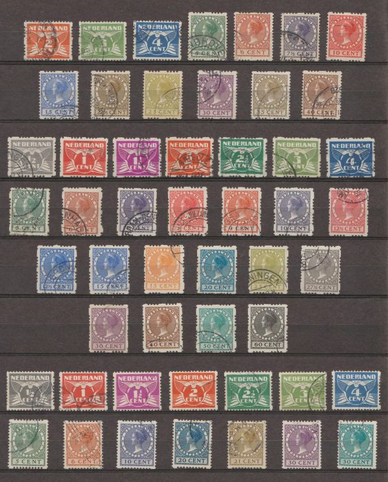 Netherlands 1926/1930 - Syncopation selection - NVPH R19/R31, R33/R56, R57/R70