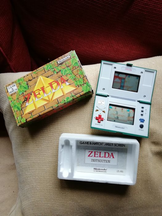 1 Nintendo Game Watch boxed rare Zelda ZL-65 with booklet - Console - In original box with booklet