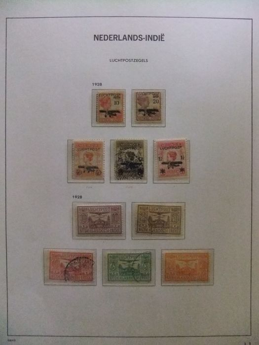 Dutch East Indies 1874/1945 - Collection of airmail, postage due and official stamps