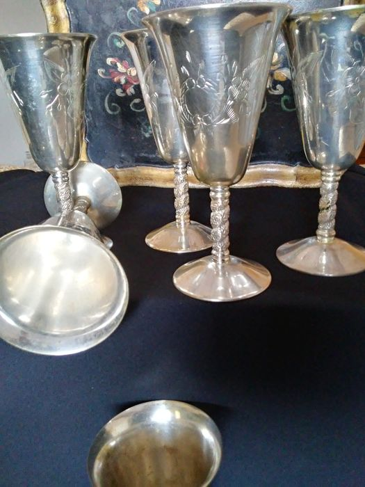 Chalice, Goblet (6) - Silver plated