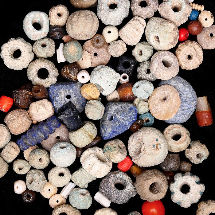 Western Asiatic Hardstone and Faience Bead Selection