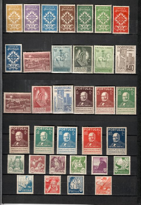 Portugal 1940/1941 - 4 Series 2 Complete Years - Mundifil Nº 583 a 616
