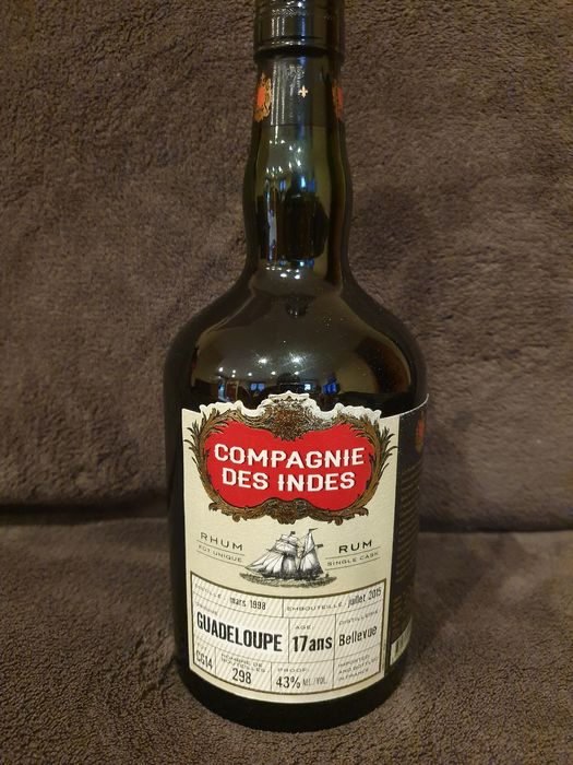Bellevue 1998 17 years old Compagnie des Indes - Single Cask CG14 - b. 2015 - 70cl