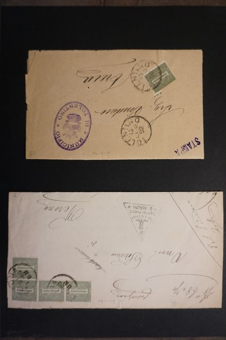 Italien - Republic - 1940s with express stamps and airmail - Sassone