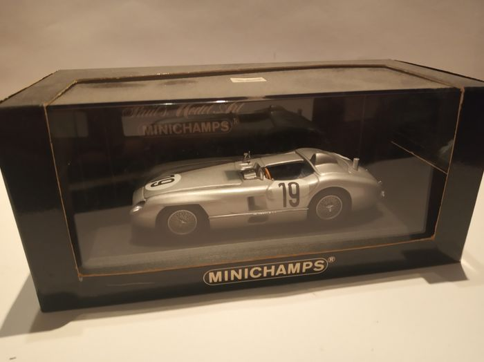 MiniChamps - 1:43 - MERCEDES 300 SLR LEMANS 1955 with J.M.Fangio - Limited edition/Extremely rare