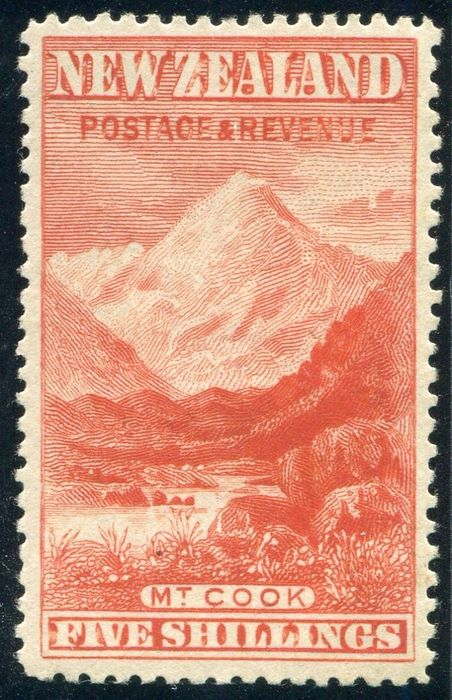 New Zealand 1898 - Mount Cook - Stanley Gibbons 259